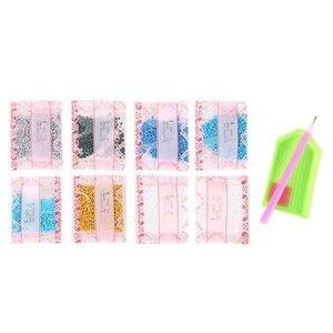Image 1 - ホットと Diy のダイヤモンド塗装クロスステッチピンクローズ水はパターン刺繍