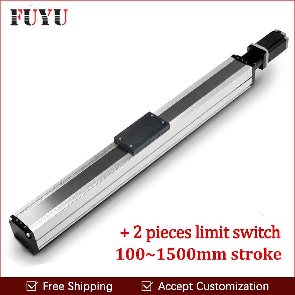 1500mm stroke aluminium guide rail cnc waterproof ball screw nema 24 motor motion stage actuator dustproof slide kit1500mm stroke aluminium guide rail cnc waterproof ball screw nema 24 motor motion stage actuator dustproof slide kit