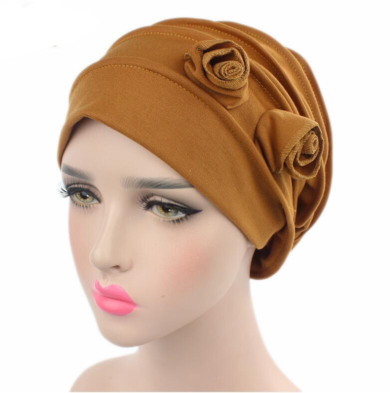 2017 Fashion Women Hats Two Flower Women's Beanies Hats ...