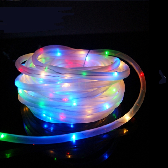 7M 50Leds Solar LED String Lights Outdoor 6Colors Rope Tube Led String Solar Powered Fairy Lights : rope lights outdoor - www.canuckmediamonitor.org