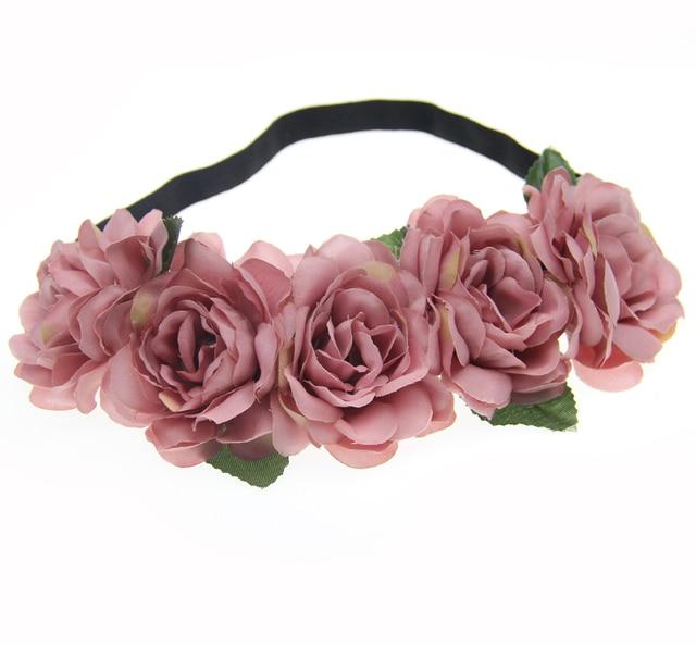 Fabric Lotus Flower Headbands for Woman Girls Hair Accessories Bridal Wedding Flower Crown Headband Forehead Hair Band
