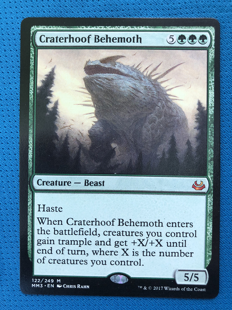 Craterhoof Behemoth MM3 Hologram Magician ProxyKing 8.0 VIP The Proxy Cards To Gathering Every Single Mg Card.