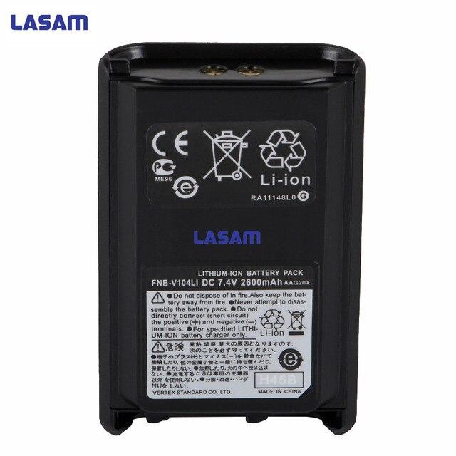 LASAM FNB V104LI DC7.4V 2600 mAh Li Ion для Vertex VX VX 234 VX 230 vx231, vx234 и т. Д. walkie talkie