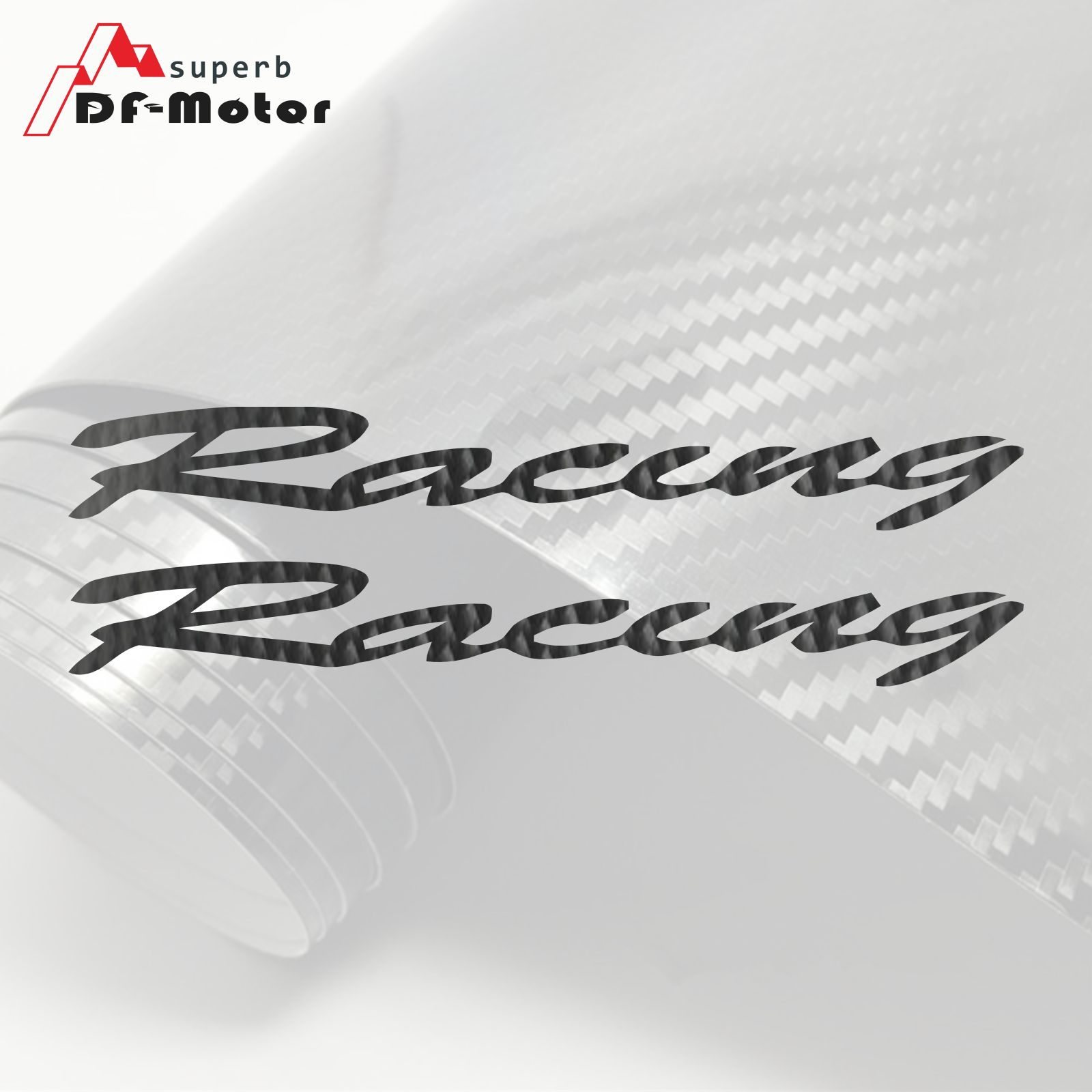 8Inch 5D Carbon Fiber Sticker Decal Motorcycle Car Sticker Wheels Fairing Helmet Sticker DIY Fit For Honda Racing