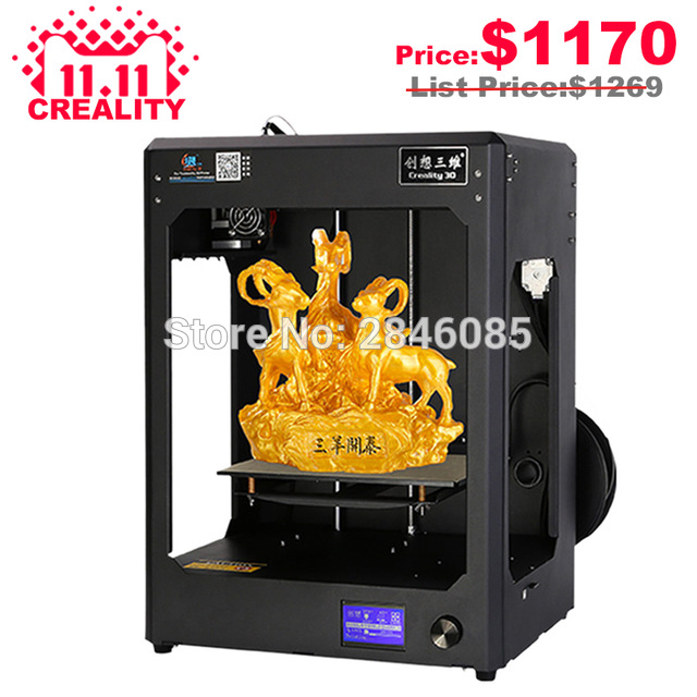 High Precision CREALITY 3D CR-5 Full Assembled 3D Printer Large Printing Size Industrial-grade PCB Mainboard with Filaments Free flsun 3d printer big pulley kossel 3d printer with one roll filament sd card fast shipping