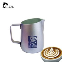 FHEAL Stainless Steel Espresso Coffee Milk Mugs Milk Coffee Frothing Jug Pitcher Craft Cup Kitchen Cafe