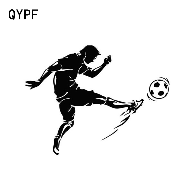 QYPF 13.5cm*10cm Car Styling Sports Football Stylish Personality Car Stickers Vinyl Accessories Black Silver S2-0274