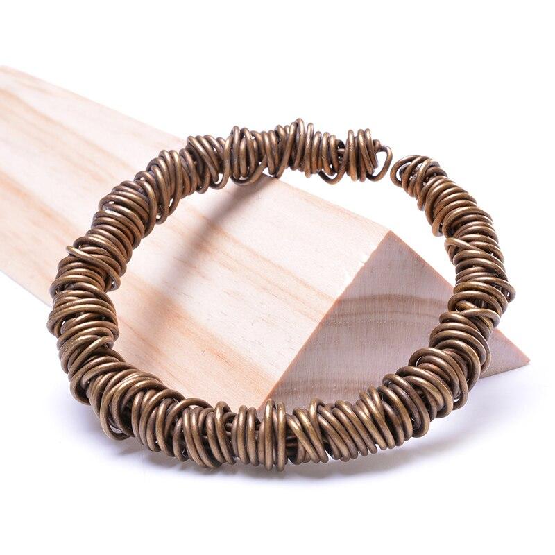 MOFRGO Original Design Hand Woven Copper Wire Bracelets Simple ...