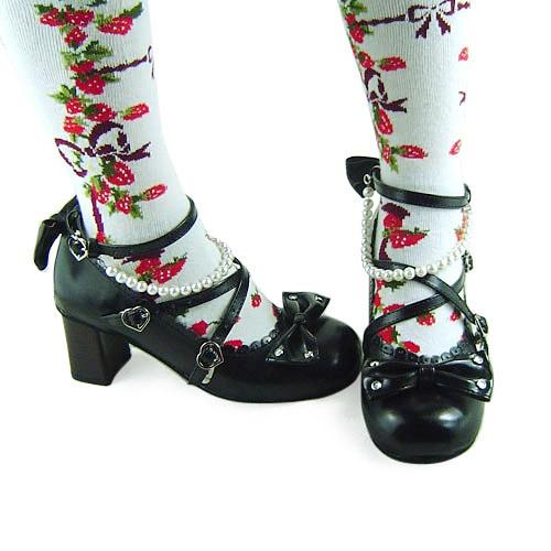 Princess sweet lolita gothic lolita shoes custom lolita beads elegant 5131 chromophous gothic and lolita