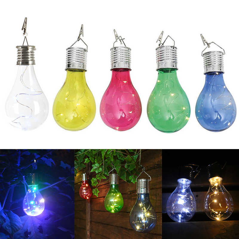Solar charger Lamp LED Bulb Wireless Rotatable Waterproof Outdoor Garden Tree Hanging Decoration solar stake lights colorful