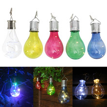 Solar charger Lamp LED Bulb Wireless Rotatable Waterproof Outdoor Garden Tree Hanging Decoration solar stake lights colorful(China)