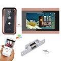 7 дюймов проводной Wi-Fi видео телефон двери дверной звонок Домофон Система с электрическим ударным замком
