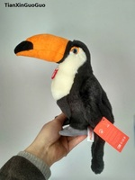 high quality goods artificial black hornibills bird plush toy about 25cm soft doll baby toy ,birthday gift b2831