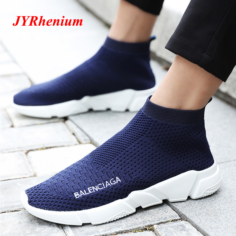 Outdoors Adults Trainers Summer Running Shoe for Men Woman Sock Footwear Sport Athletic Unisex Breathable Mesh Female Sneakers