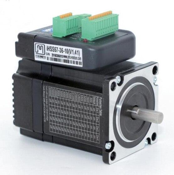 NEMA23 1Nm 142oz.in Integrated Closed Loop Stepper motor with driver 36VDC JMC iHSS57-36-10 nema24 3nm 425oz in integrated closed loop stepper motor with driver 36vdc jmc ihss60 36 30