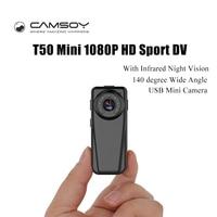 T50 Mini Full HD 1080 P Telecamera A Infrarossi Night Vision Kamera Wide Angle Digital Video Voice Recorder DV DVR Della Macchina Fotografica Micro Webcam