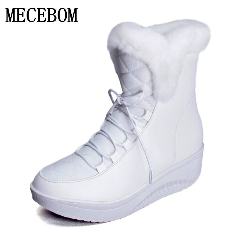 Hot Sale Shoes Women Boots Solid Slip-On Soft Cute Women Snow Boots Round Toe Flat with Winter Fur warm Ankle Boots 1797W cute women winter snow boots slip on soft fur warm shoes candy color ankle boots woman round toe solid flat biker boots