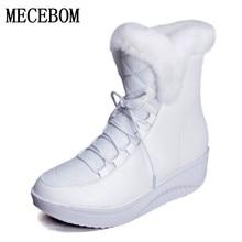 Heißer Verkauf Schuhe Frauen Stiefel Solide Slip-On Weiche Nette Frauen Schnee stiefel Runde Kappe Flache mit Winterfell warme Stiefeletten 1797 Watt