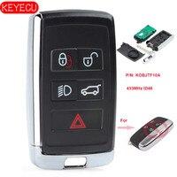 Keyecu Updated Smart Remote Car Key Fob 315MHz/433MHz ID46 for Land Rover LR2 LR4 2012 2015,Range Rover Evoque /Sport