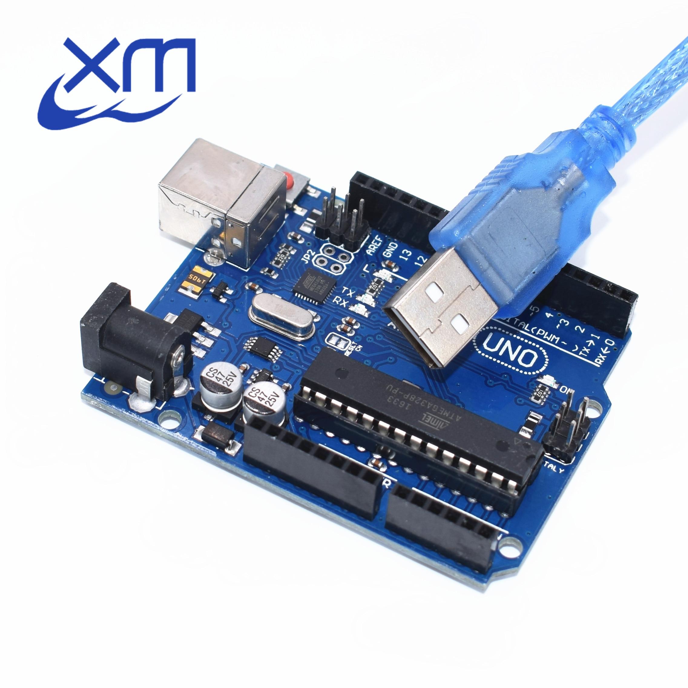10set UNO R3 for Compatible MEGA328P ATMEGA16U2 10PCS UNO R3 10PCS cables