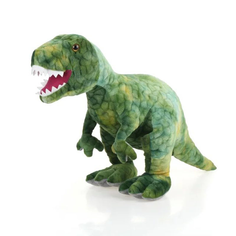 60cm 80cm Plush Dinosaur Toy Simulation Trex Doll Big Animal Stuffed Toy Kids Toys Birthday Gift For Boy High Quality recur toys high quality horse model high simulation pvc toy hand painted animal action figures soft animal toy gift for kids