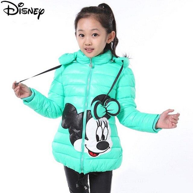 eba7609e9 Disney Frozen Winter Girls Jacket Cartoon Minnie Coat Cotton Padded ...