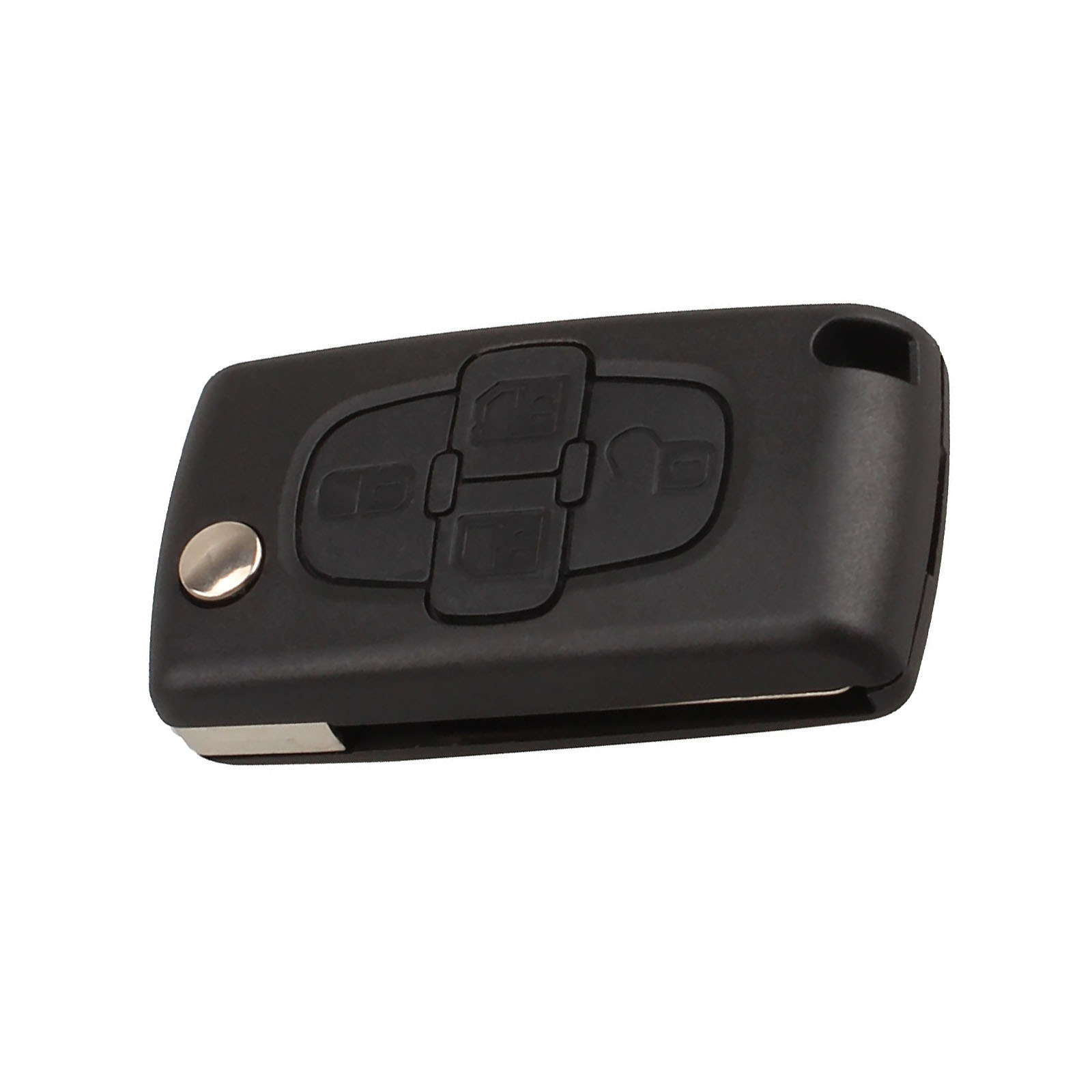 Image 3 - Car Replacement Key Shell 4 Buttons Flip Folding Remote Key Case Fob Cover Blank Blade For Peugeot 1007 Citroen C8-in Car Key from Automobiles & Motorcycles