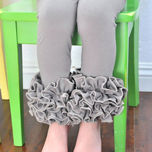 Knit Cotton Baby Girls Pants Pink Stripe Children Girls icing Leggings Triple Baby icing Ruffle Pants Trousers Free Shipping