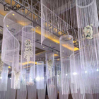 8 Colors 1x2m Shiny Tassel Flash Silver Line String Curtain Window Door Divider Sheer Curtain Valance Home Wedding Decoration