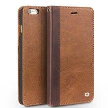 Qialino натуральная кожа чехол для iPhone 6 plus 6S плюс 5.5 «в ковбойском стиле флип чехол для iPhone 6 S 4.7 «с ручной ремешок