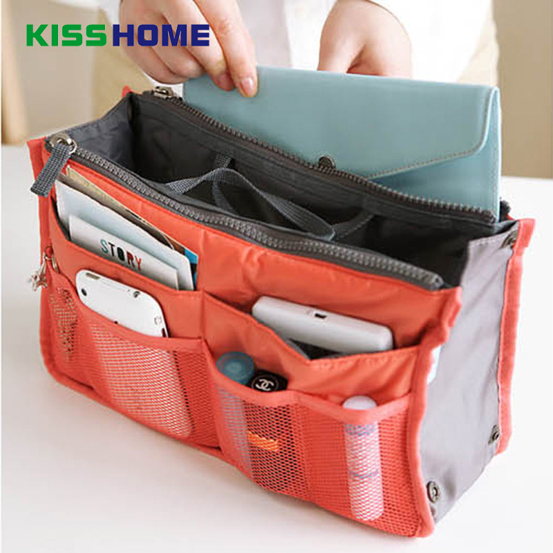 13 Color Portable Make Up Storage HandBag Women Zippers Organiser Purse Multi Functional Large Bag Tidy Travel Cosmetic Pouch