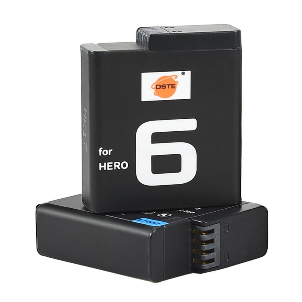 DSTE 2xAHDBT-601 Batteries De Haute qualité costume pour GoPro HERO 6 Noir Caméras Accessoires Rechargeable GoPro HERO 6 Batterie