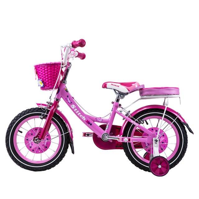 717bf907b12 Dr Bike 12 inch Stitch Mermaid Pink Girls Bike Children Bicycle with Basket  and Rear Shelf