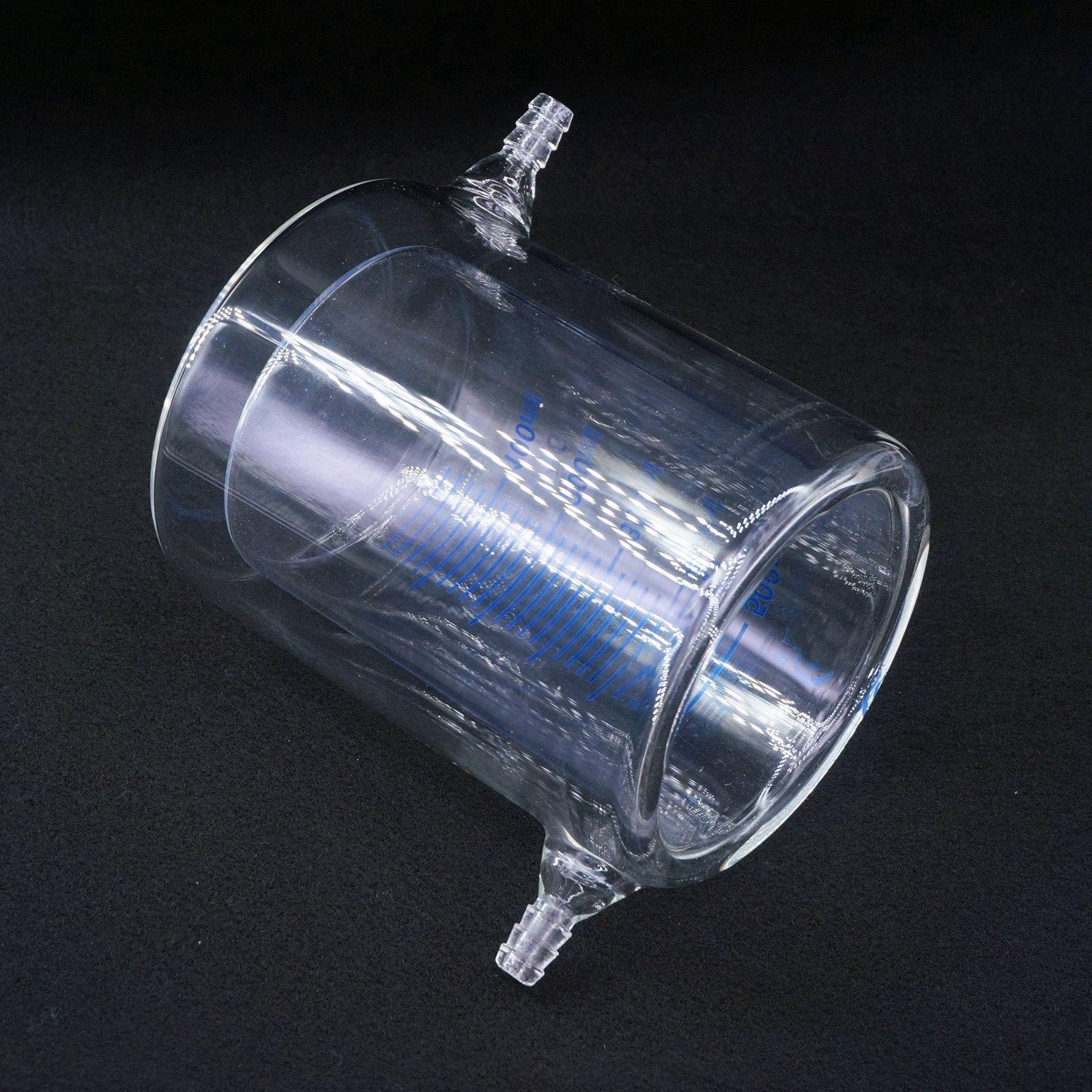 500ml Laboratory Jacketed Borosilicate Glass Beaker Double Layer Beaker for Photocatalytic Experiment500ml Laboratory Jacketed Borosilicate Glass Beaker Double Layer Beaker for Photocatalytic Experiment