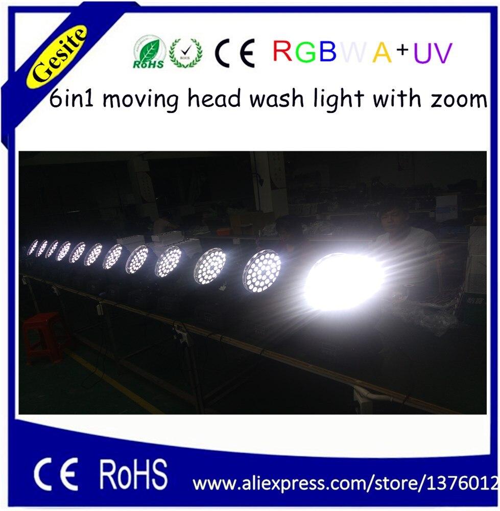 AC 100-240V Quad-color 36 * 18W RGBWA UV 6-u-1 LED pokretno glavno - Komercijalna rasvjeta - Foto 3