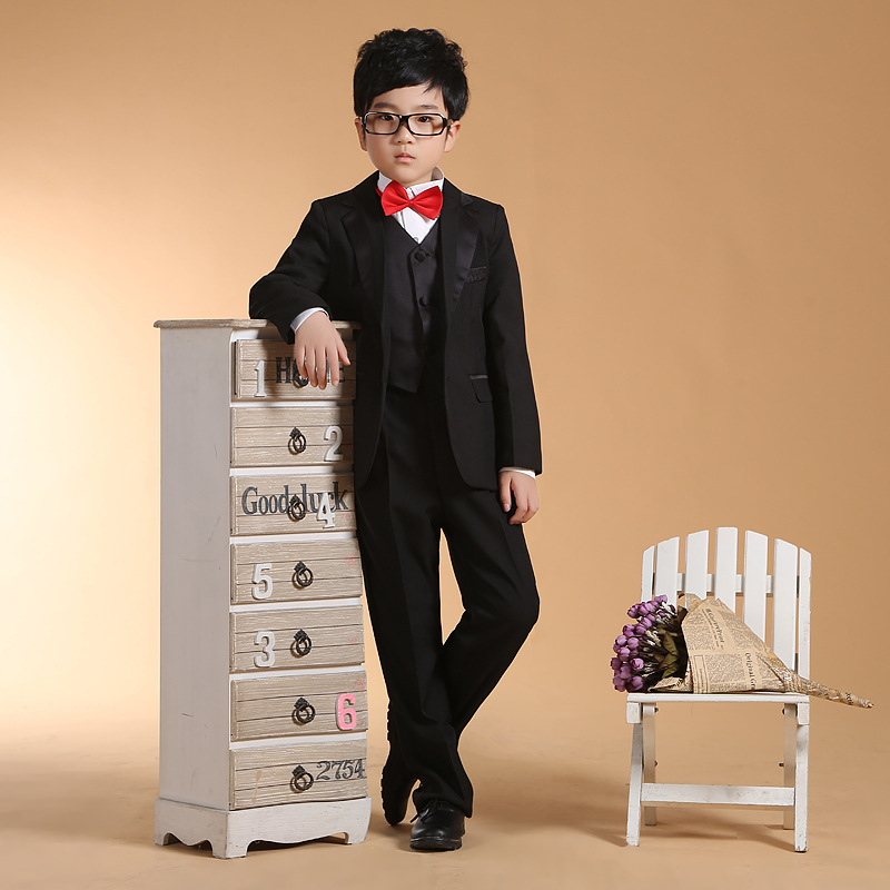 6pcs/set Boys Suits for Weddings Black Blazer for Kids Boys Prom Suits Blazer and Jackets for Boys blazer conquista blazer