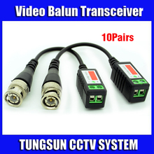 10Pairs/lot Twisted BNC Video Balun Passive Transceivers UTP Balun BNC Cat5 CCTV Camera UTP Video Balun up to 3000ft Range