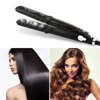 Professional 450F Ceramic Vapor Steam Hair Straightener Styling With Argan Oil Infusion Steam Flat Fast Heating