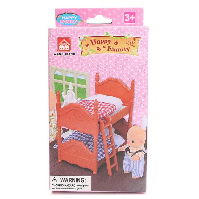 Pretty DIY Plastic Miniature Doll House Bunk Bed