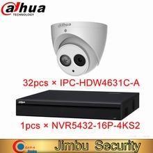 Dahua NVR Sicherheit kit NVR5432-16P-4KS2 32CH 1.5U 16PoE 4K & H.265 Netzwerk Video Recorder und IPC-HDW4631C-A 6MP IP Dome kamera