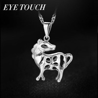 EYE TOUCH Women Pendants Necklaces Fashion Elegant S925 Sterling Silver Jewelry Horse Shape Party Birthday Jewelry