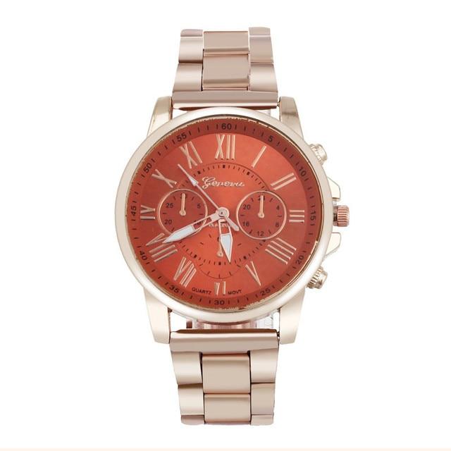erkek kol saati Colorful Womens Mens Stylish watch Roman numerals Stainless Steel Big Dial Watch Quartz Sports Watch 3
