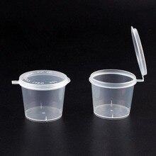 LanLan 100 шт 25 мл/40 мл пластиковые чашки для гарнира контейнеры для хранения еды прозрачные коробки