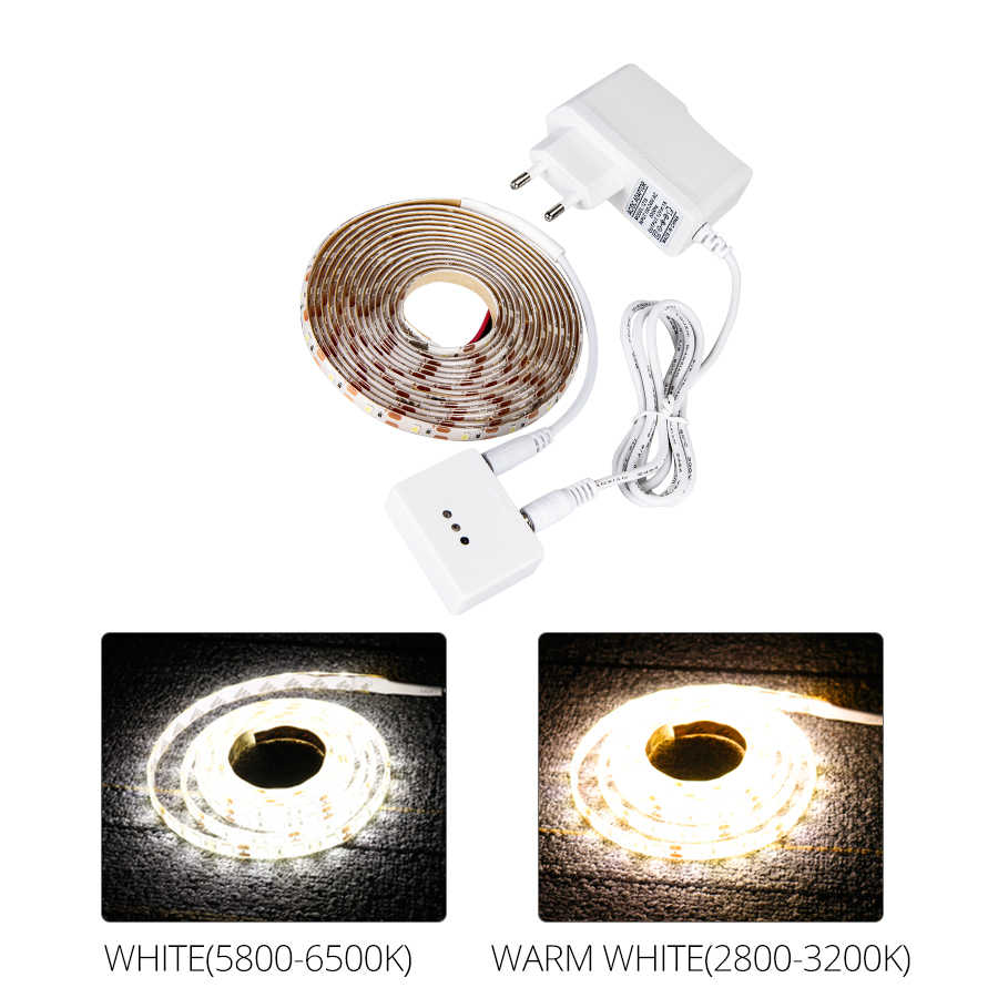 1 м 2 м 3 м 4 м 5 м светодиодный под кабинет огни 12 V 2835 60 светодиодный s/m Светодиодные ленты легкой руки забавным Сенсор Кухня ночник для спальни