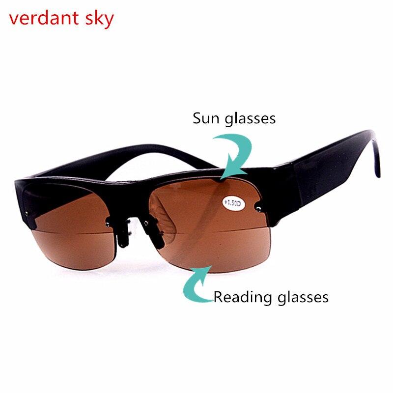 Bifocal Reading Glasses Unisex Diopter Glasses Male Reading Sunglasses  Presbyopic Eyeglasses +1.0+1.5+2.0+2.5+3.0+3.5+4.0 5b2868b4ef5a