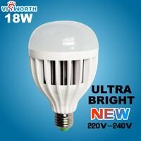 מחיר מפעל 18 w בסיס e27 נורת led מנורת led 220 v led בועת כדור הנורה חם/מגניב לבן נורות led smd 5730 led משלוח חינם