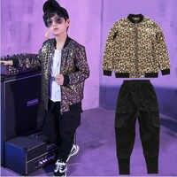 Детская Одежда для танцев в стиле хип-хоп с блестками; костюм для джазовых танцев для мальчиков; одежда для выступлений; одежда для бальных т...