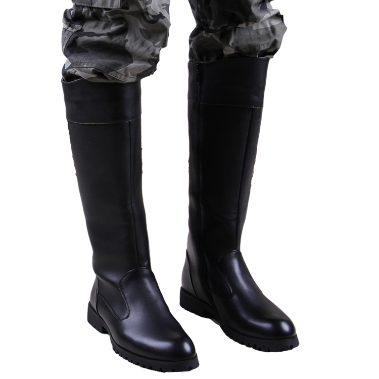 2015 men leather military army boots knee high boots for men and ...