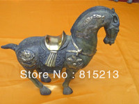 wang 000112 Chinese folk collection bronze horse sculpture dragon