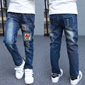 Boy Jeans Spring and Autumn Models Children's Fashion Jeans Boys Hole Denim Trousers Patch Jeans Casual Jeans